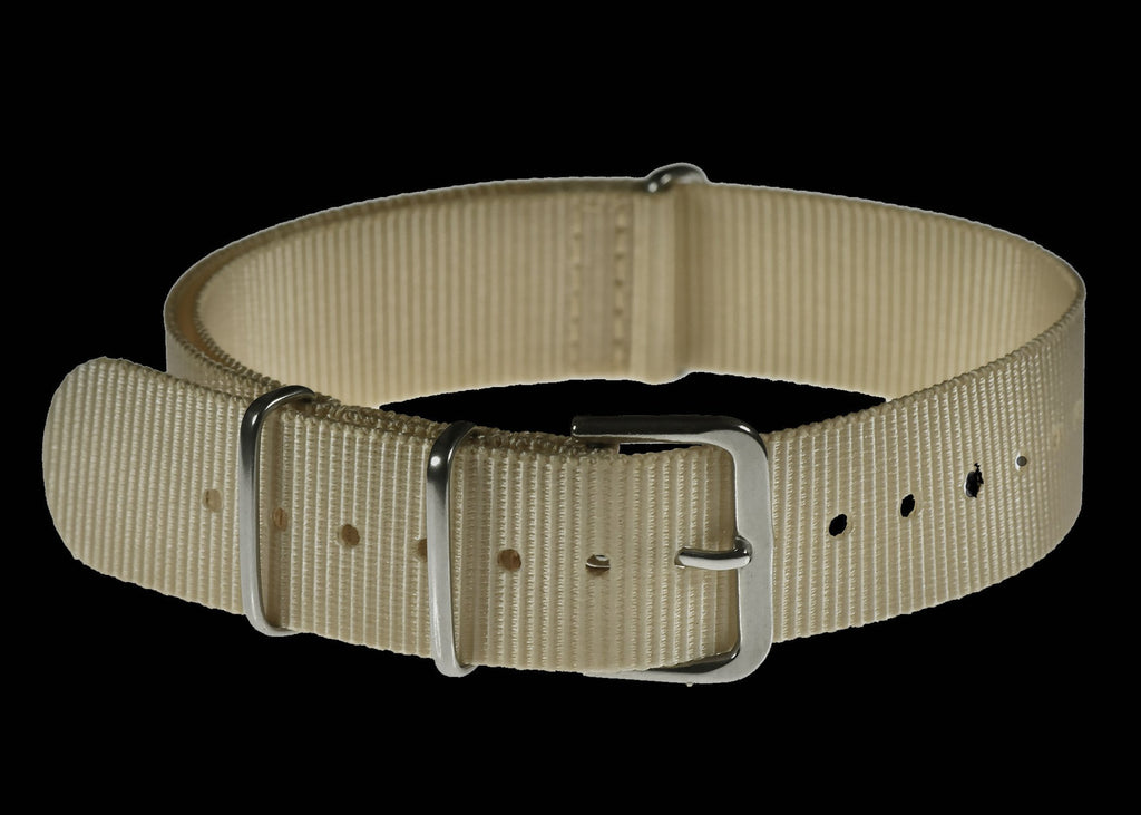 MWC Watch Strap - 18mm NATO Webbing Strap - Light Sand / Desert Pattern