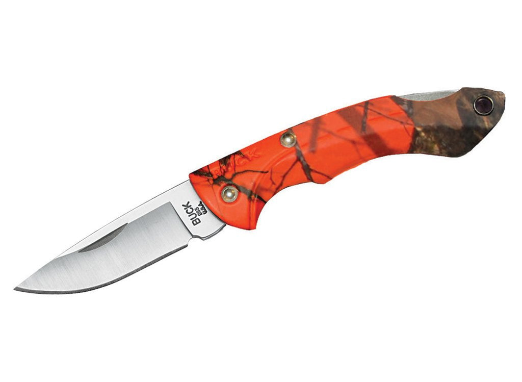 Buck - Nano Bantam Knife - Mossy Oak Blaze Orange Camo