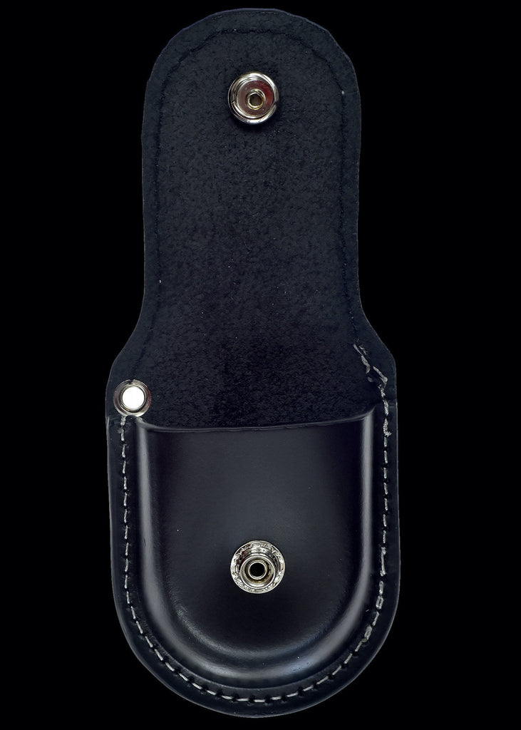 MWC Pocket Watch Case - Black Stitched Leather