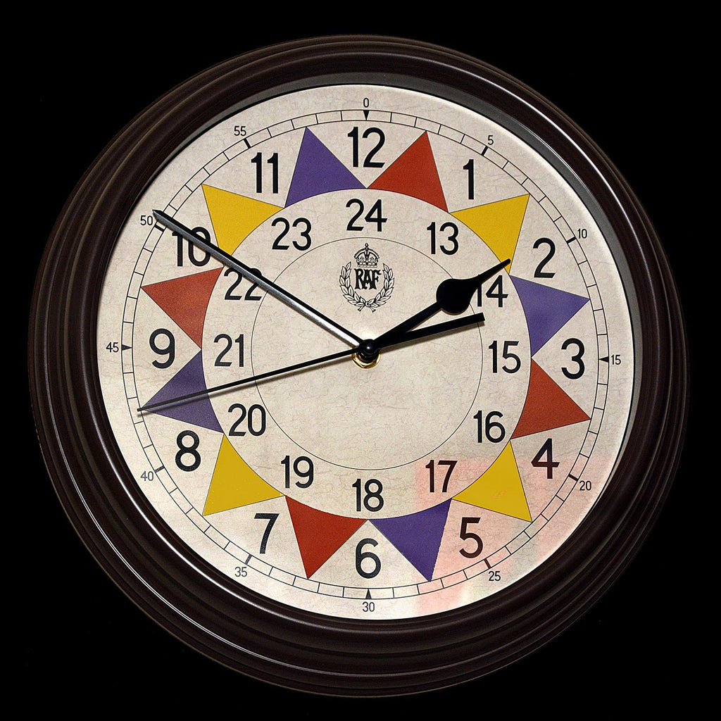 "MWC Clock - 1940 ""Battle of Britain"" Pattern Replica, 12/24 Hour, Silent Sweep Movement, 30.5cm - Wall Clock"