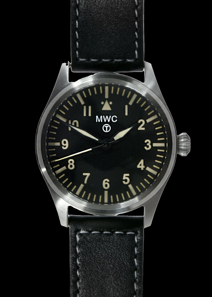 MWC Classic Pilots Watch - 40mm Stainless Steel Aviator Watch with Hybrid Movement and 100m Water Resistance