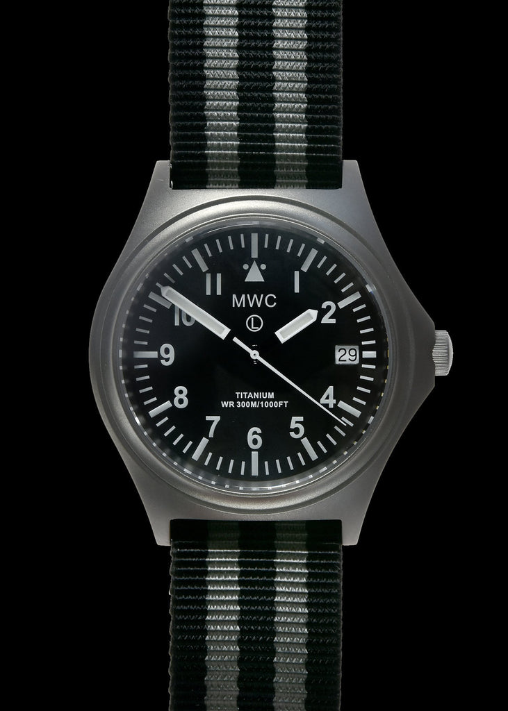 MWC Infantry Watch - 45th Anniversary Ltd Edition Titanium, 300m Water Resistant, 10 Year Battery, Luminova, Sapphire Crystal