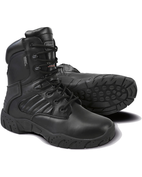 Tactical Pro Boots Side Zip Black Kombat
