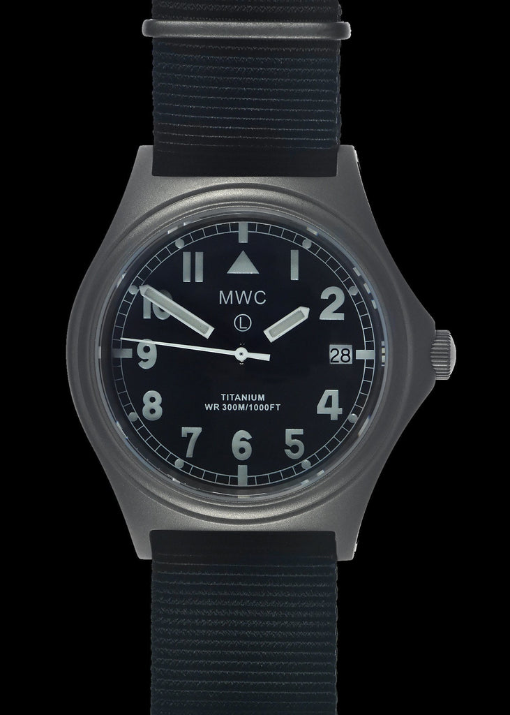 MWC Infantry Watch - Titanium General Service, 300m Water Resistant, 10 Yr Battery, Luminova, Sapphire Crystal, 12 Dial (Date Version)