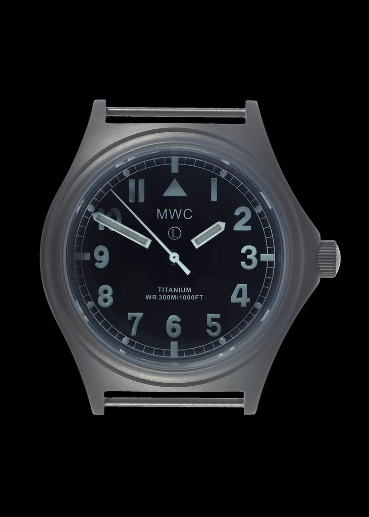 MWC Infantry Watch - Titanium General Service, 300m Water Resistant, 10 Yr Battery, Luminova, Sapphire Crystal, 12 Dial (Non Date Version)