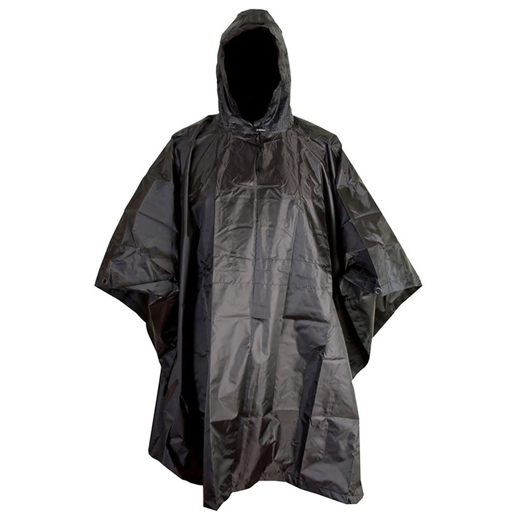 100% Waterproof Poncho - Olive Green & Black