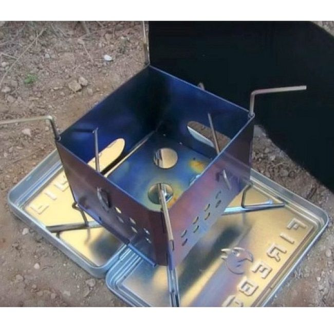 Folding Firebox Nano Stove (Gen 2) (Stainless Steel)