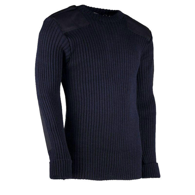 York Woolly Pully Crew Neck , Patches, Epps & Pen Pocket
