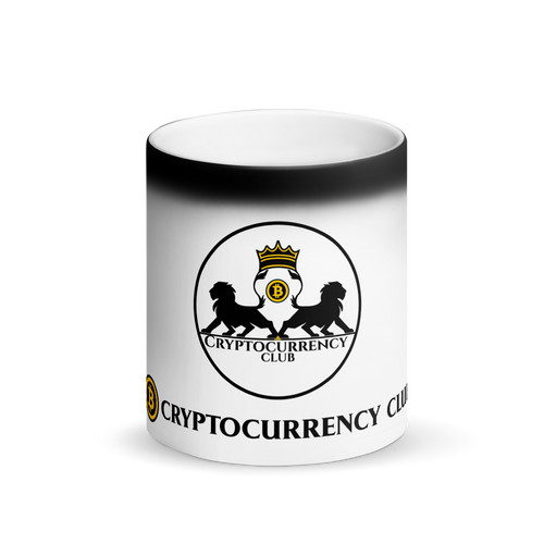 Cryptocurrency Club Matte Black Magic Mug