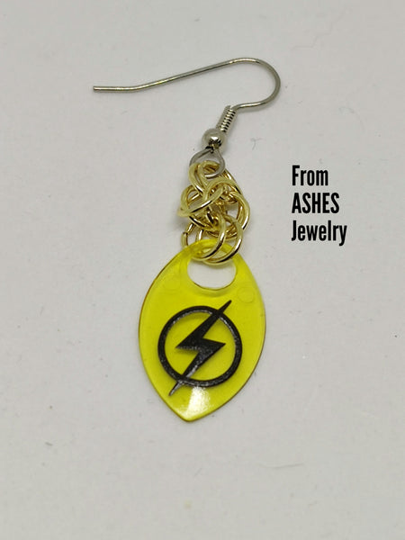 Super hero inspired scale earrings