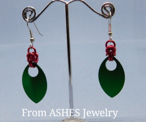 Holiday Scale Dangle Earrings