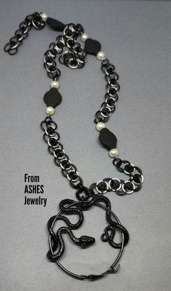 Black Snake Necklace