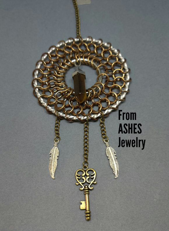 Tiger's Eye Dream Catcher