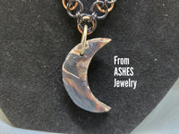 Bronze and black polymer moon
