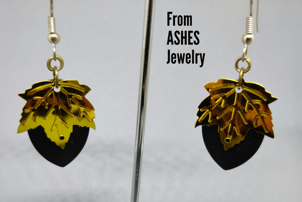 Autumn Leaf Scale Earrings