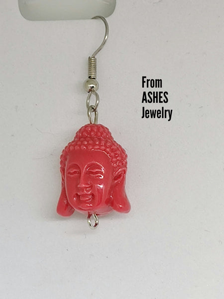 Buddha Head Dangle earrings
