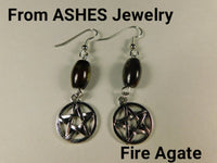 Stone Pentacle Earrings