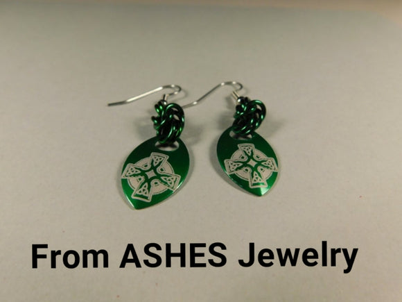 Celtic Cross Scale Earrings