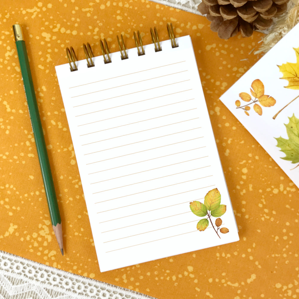 Fall Leaves Autumn Notebook 4x6
