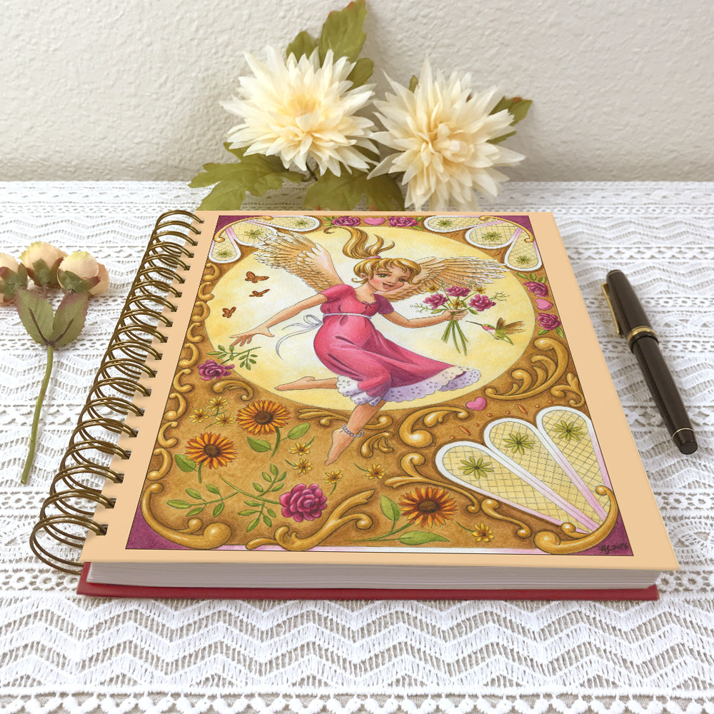 Angel Girl Blessings Hardcover Journal Notebook - Spiral Bound