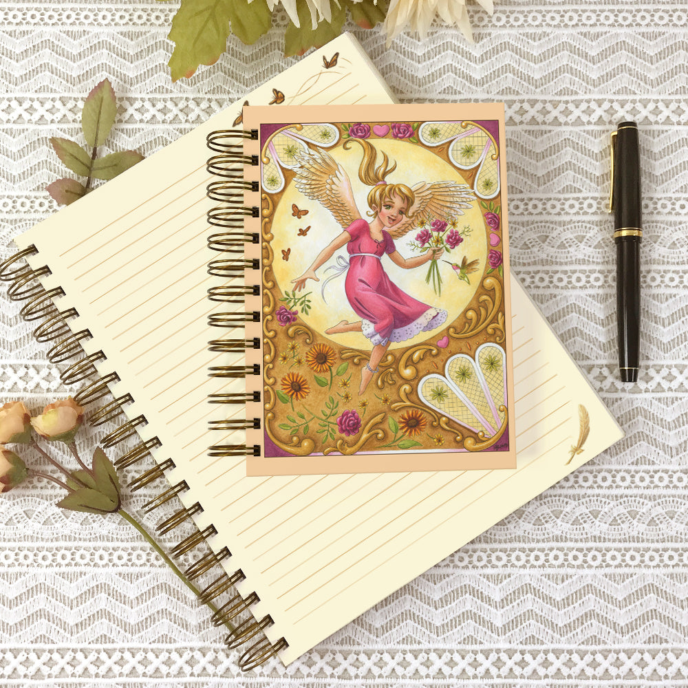 A 5x7 and an 8x10 Angel Blessings journals.