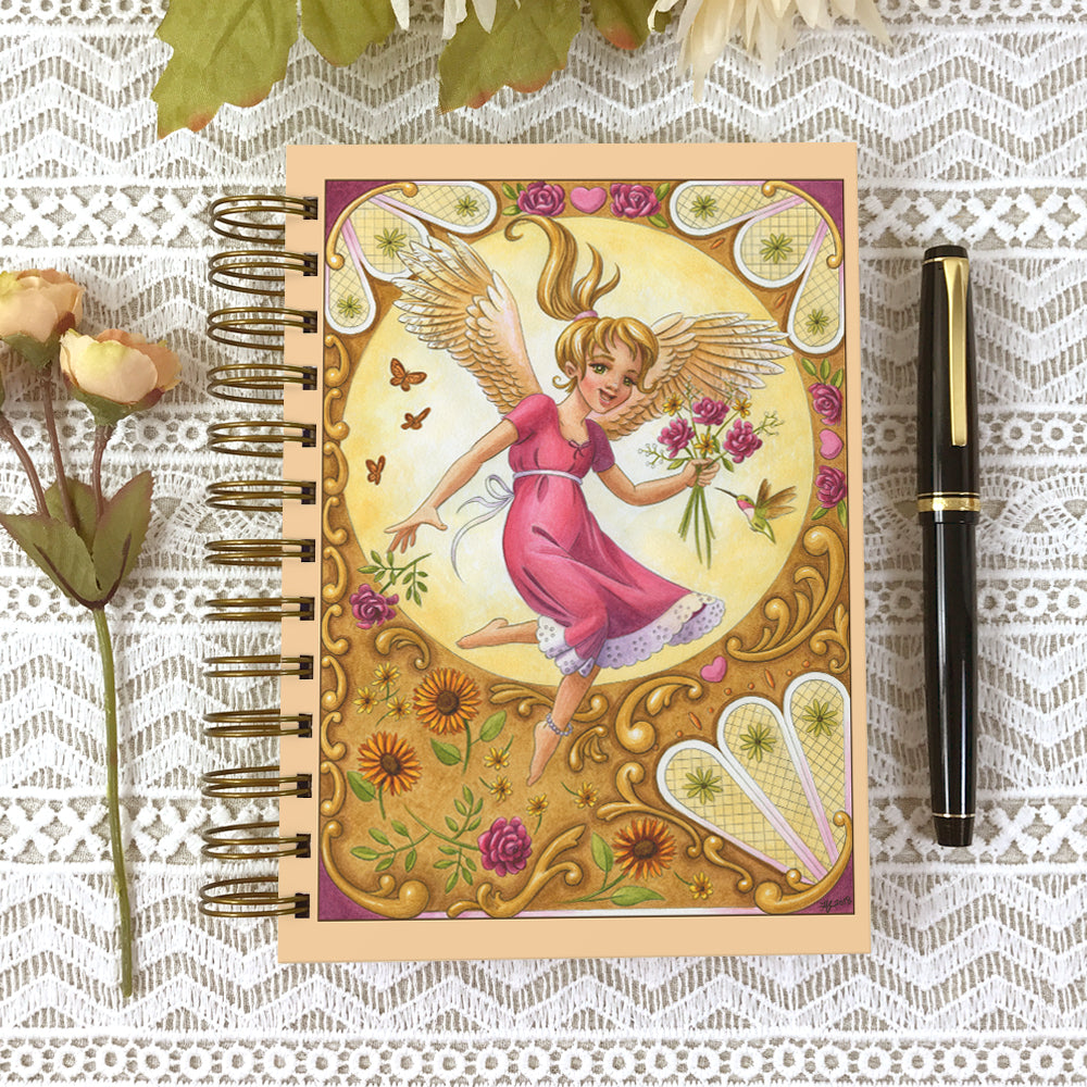 Cover of Angel Blessings 5x7 size hardcover journal notebook.