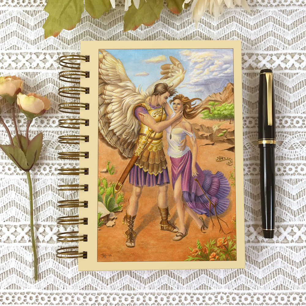 Cover of 5x7 Archangel Gabriel dream or prayer journal.