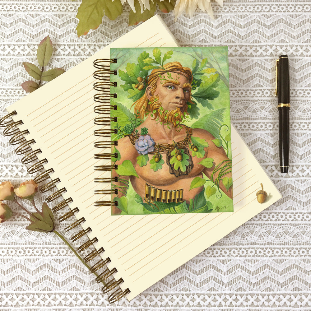 5x7 and 8x10 size Celtic Green Man journals.