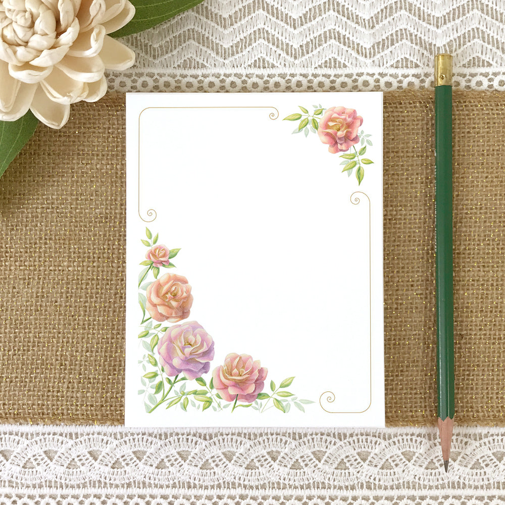 Roses Floral Notepad