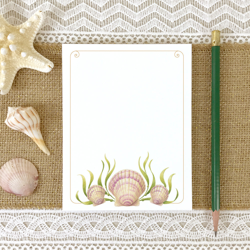 Pink Scallop Seashell Memo Notepad