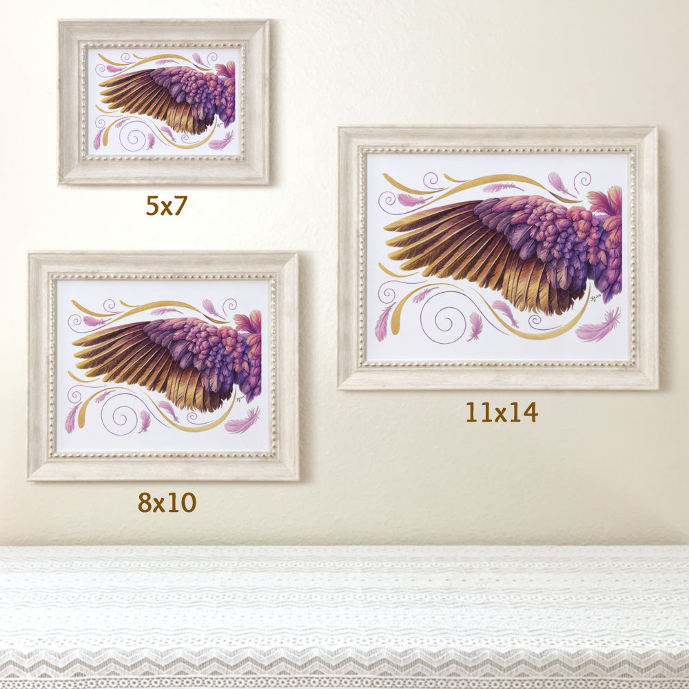 Whimsical Angel Wing Purple