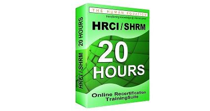 HRCI | SHRM 20 Hour Online Recertification Training Suite<br><small><em>HRCI: 20 Credits<br>SHRM: 20 PDCs</em></small>