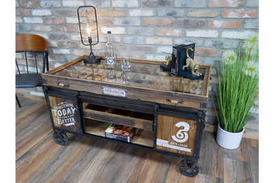 Rustic Industrial Coffee Table to serve smoothly