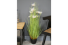 Artificial Grass White Flowers for respect and humbleness, cleanliness and virtue