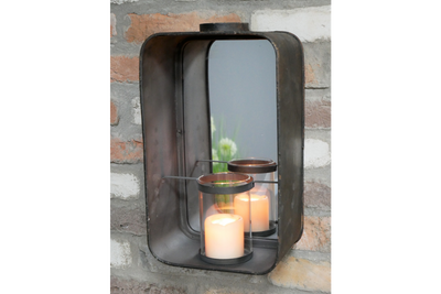 Mirror & Candle Holder for awareness and truth