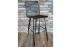 Wire Metal Mesh Black Bar Stool