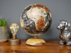 Solid Teak Spinning Globe on Teak Base