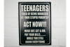 Light Metal Wall Mounted Sign Teenagers