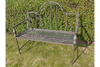 Grey Ornate Distressed Design Bench