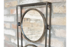 Fashionable 3 circle Black Wall Mounted Industrial Mirror