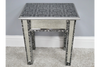 Embossed Blackened Silver Side Table