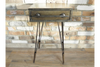Brown Solid Wooden Industrial Vintage Bedside Cabinet