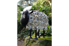 Realistic looking Garden Ornament Metal Sheep (Medium)