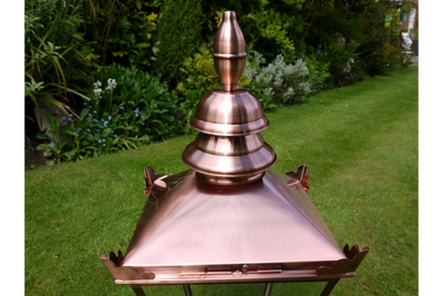 Stainless Steel Medium Lamp Top Copper Color Finish