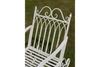 Victorian Style Rustic Distressed Metal Garden Rocking Chair
