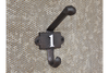 Cast Iron Wall Mounted Black Coat Hook No.1
