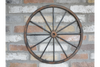 Large Metal Wagon Wheel Wall Decor