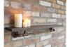 Distressed Wood and Metal Industrial Shelf