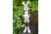 Milky White Rabbit Planter Garden Ornament