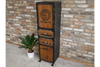 Fir Wooden & Metal Tall Industrial Cabinet Antique Style